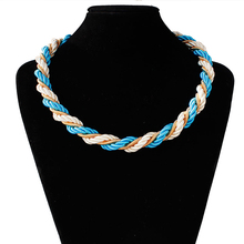 Mdiger Brand Female Choker Necklace Creative Knit Necklaces For Women Fashion Necklaces Jewelry Bijoux Sweater Chain 9 PCS/LOT