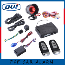 Car alarm system PKE on/off by remote control, passive keyless entry one way type security PKE car alarm(China)