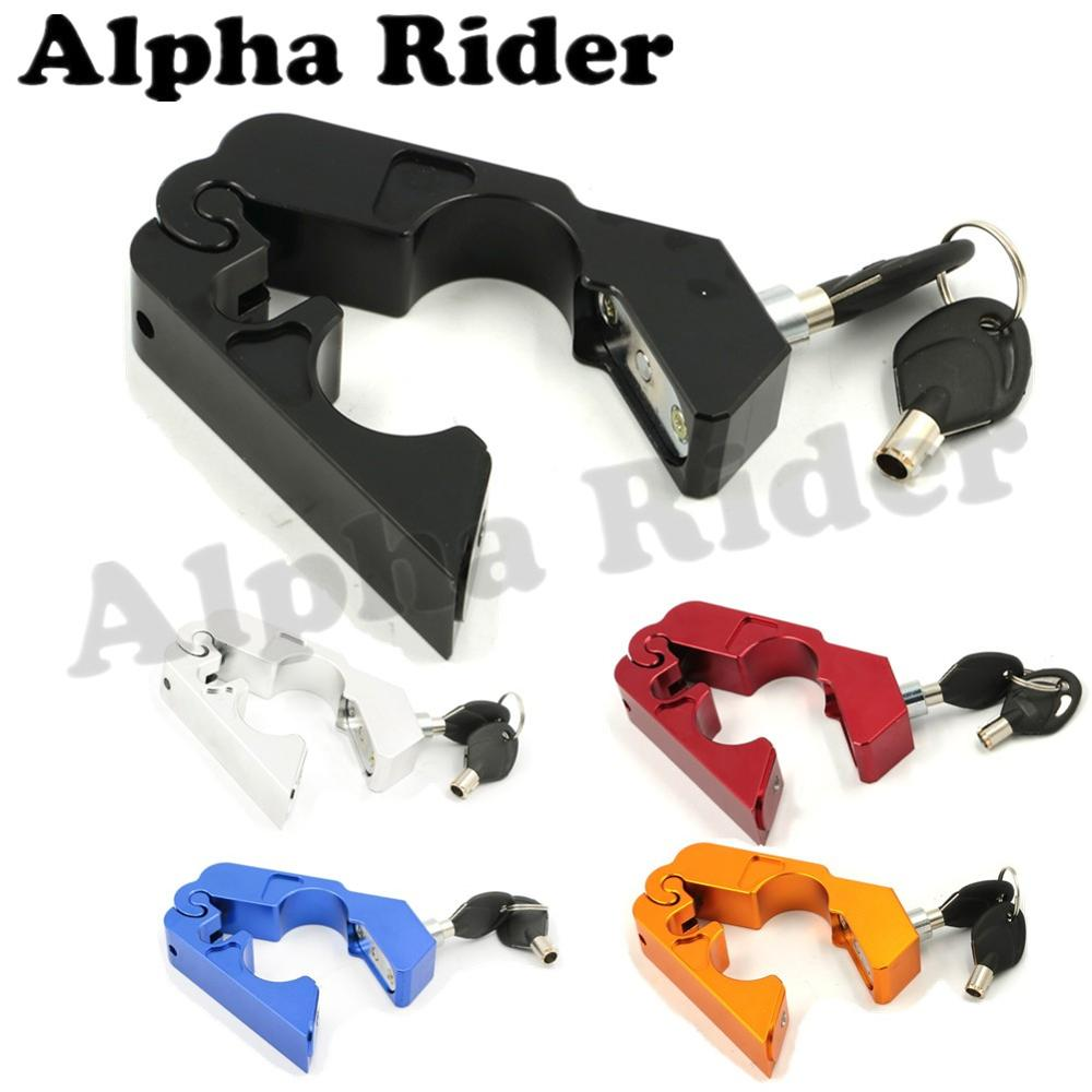 Motorcycle Handlebar Throttle Grip Locks Front Brake Security Lock Theft Protection Fit Most Scooters Vehicle ATVs Dirt Bike New<br><br>Aliexpress