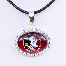 Necklace NCAA Florida State Seminoles Charm Pendant University Football Jewelry for Women Gifts Party Birthday Wholesale 2017(China)