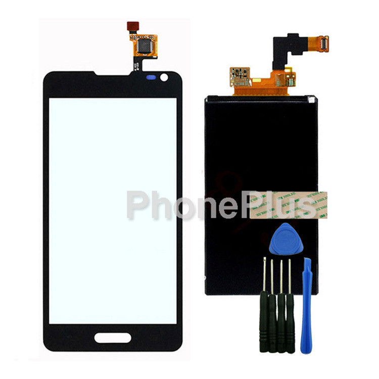 Touch Screen Glass Digitizer+LCD Screen Display Screen Adhesive Replacement Repair Part For LG Optimus F6 D500 <br><br>Aliexpress