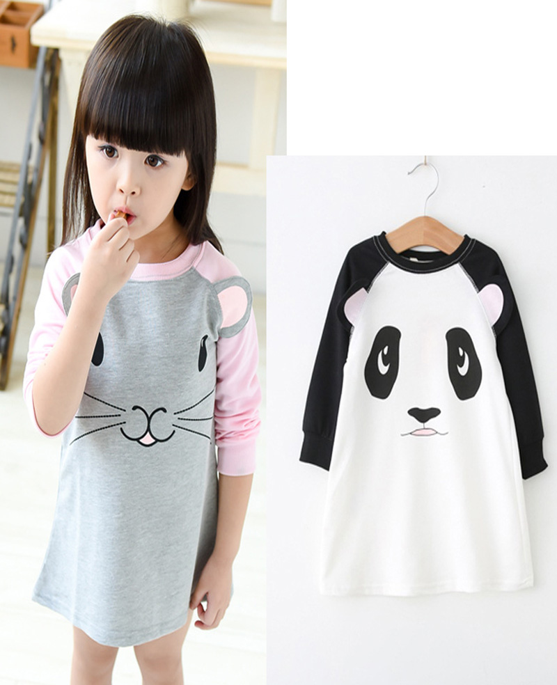 baby girl dresses for birthday party mouse girl baby dresses autumn 2016 panda girl party dress long sleeves dress girl birthday<br><br>Aliexpress