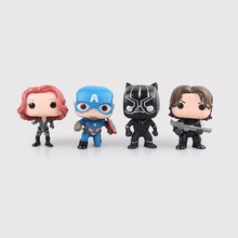 10cm Avengers Iron Man Action Figure Toys Marvel Captain America 3 Civil War Black Widow Panther Winter Soldier