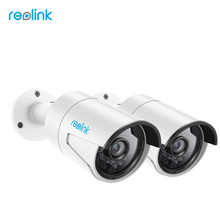 Reolink Surveillance Camera PoE 4MP IP cam Bullet Outdoor Indoor CCTV 1440P Onvif Infrared Cam RLC-410-2 (2 pack)(China)