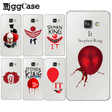 HjggCase Pennywise The Clown Horror Phone Case for Samsung Galaxy A3 A5 A7 J1 J5 J7 2015 2016 2017 Stephen king's it Cover Shell(China)
