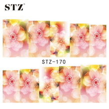 1Sheets NEW Beautiful Flower Nail Art Designs Water Transfer Full Wraps Foils Temporary  Tattoos Nail Art Sticker Decals STZ170
