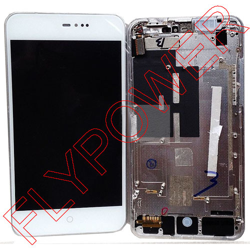 For MEIZU MX2 M040 LCD Screen Display with Touch Screen Digitizer +Frame White color by free shipping<br>
