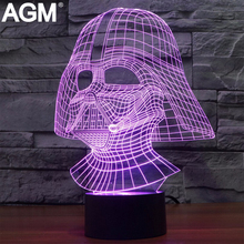 Star Wars 3D Touch Table lamp 7 Color Changing 3D Light Black Knight 3D LED Novelty 3D Night Lights For Kids Action Gifts Toy
