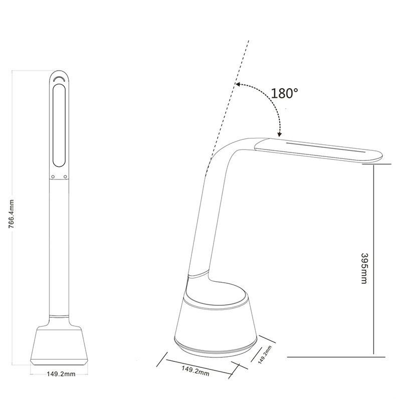 Bluetooth Speaker Touch Sensor LED Table Lamp flexibable gooseneck intelligent dimming color eye care reading light IY106108