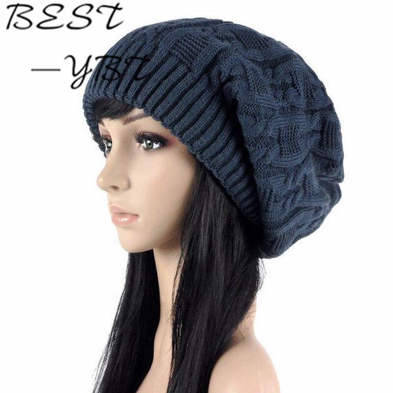 2016 New Korean Version of The Double Knit Hat Ladies Autumn and Winter High Quality Fashion Warm Wool Cap Sleeve Head CapÎäåæäà è àêñåññóàðû<br><br><br>Aliexpress