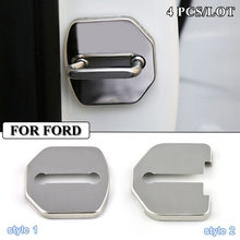 Car-Styling Stainless Steel JDM Car Door Lock Cover Accessories For Ford Focus 2 3 Mondeo Ecosport Kuga Mk3 Mk4 Fiesta Mustang(China)