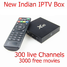 Indian IPTV Box 300 popular Indian channels Android  S905X Quad Core Set Top Box 1080P Full HD VOD Lifetime Live TV Box