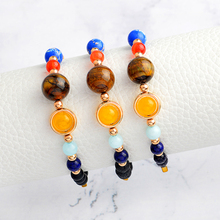 2018 Jewelry Bracelets Solar System Galaxy Space Jewelry Bracelets Men and Women Neutral Star Gift Wholesale(China)