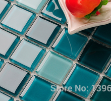 Lake Green Crystal glass puzzle parquet balcony bathroom backsplash home wall tiles,swimming pool decor,wholesale mosaic,LSNSJ05