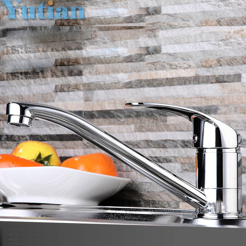 Free shipping Modern Style Chrome Single Lever Kitchen Bathroom Sink Basin Faucet Mixer Tap,YT-6009(China)