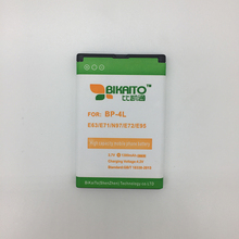 BIKAITO 1380mAh BP-4L Replacement Battery For Nokia E61i E90 6650/F/T E63 E71 E72 E73 N97 E95 E52 E55