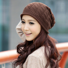 New Women Fall Hats Twist Pattern Beanies Winter Gorros Female Knitted Warm Skullies Cap Feminino