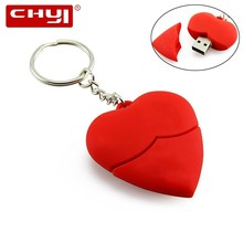 CHYI Lovely Heart Model USB Flash Drive Red Pen driver 4GB 8GB 16GB 32GB 64GB Pendrive U Disk Valentines Gift Memory Stick(China)