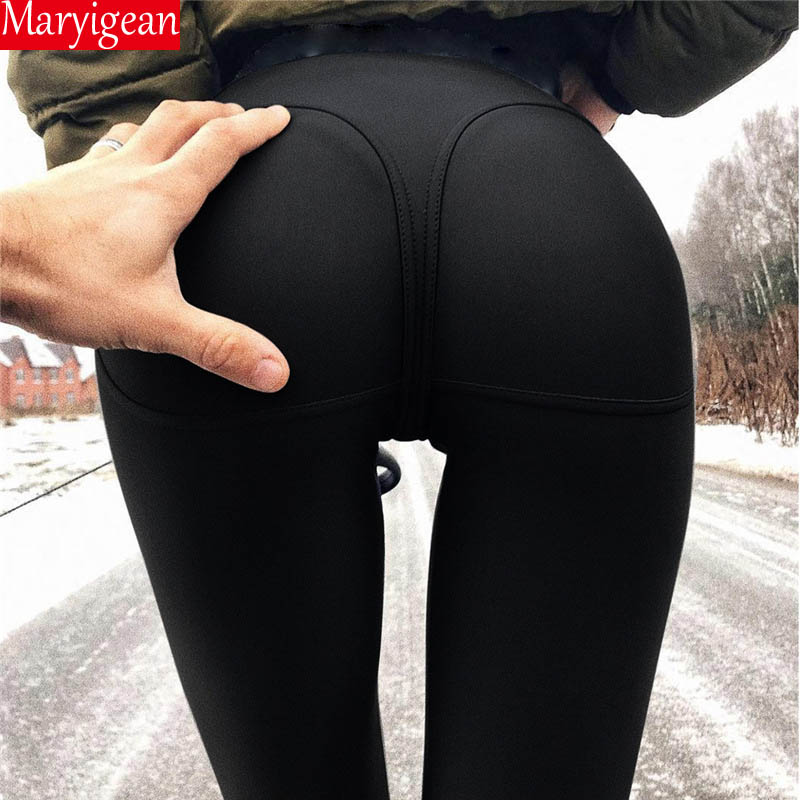 Maryigean Leggings High Quality Low Waist Push Up Elastic Casual Leggings Fitness for Women  Pants Bodybuilding Clothing