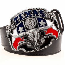 Wild west cowboy personality Men's belt metal buckle bull head American Texas western cowboy style belts trend belt for men gift(China)