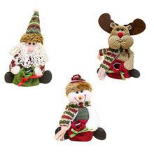19*12 CM Cute Moose Santa Claus Candy Bag Snowman Christmas Gift For Children Christmas Decoration Supplies