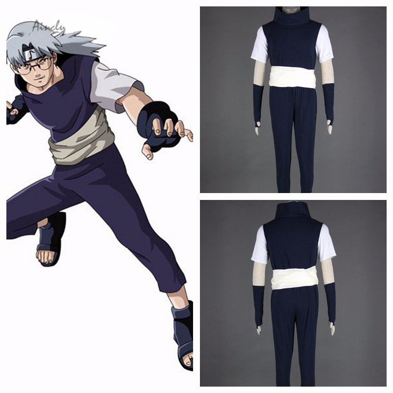 Ainclu Tailor-made/Customize Free Shipping Anime Product Top Selling NARUTO Anime Cosplay Yakushi Kabuto Costume Halloween