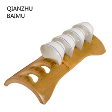 Handmade Bamboo Tea cup holder Storage rack kongfu tea accessories Teapot Storage Cup Plate kitchen tools Home Decoration crafts(China)
