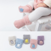 New autumn and winter baby socks velvet thick baby socks feet newborn socks(China)