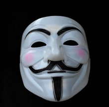 Free Shipping 64 Pieces V for Vendetta ! Guy Fawkes Mask Anonymous Vendetta Mask Halloween Cosplay