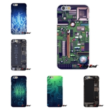 For iPhone 4 4S 5 5S 5C SE 6 6S 7 Plus Galaxy Grand Core Prime Alpha computer battery phone Circuit Board Soft Silicone Case(China)