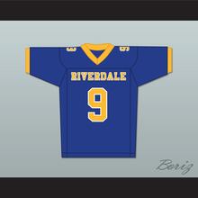 Archie Andrews 9 Riverdale High School Blue Football Jersey(China)