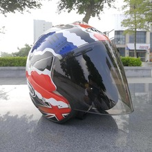 Factory produce excellent Motorcycle Half helmet handsome open face helmet abs material M L XL XXL different size(China)