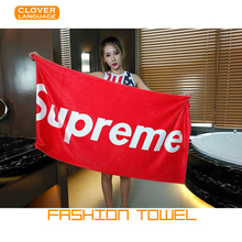 Fashion Brand Sports Towels Supreme Towels Microfiber Fabric Quick-drying Leisure Riding/Hiking/Fitness/Swimming Beach Towels