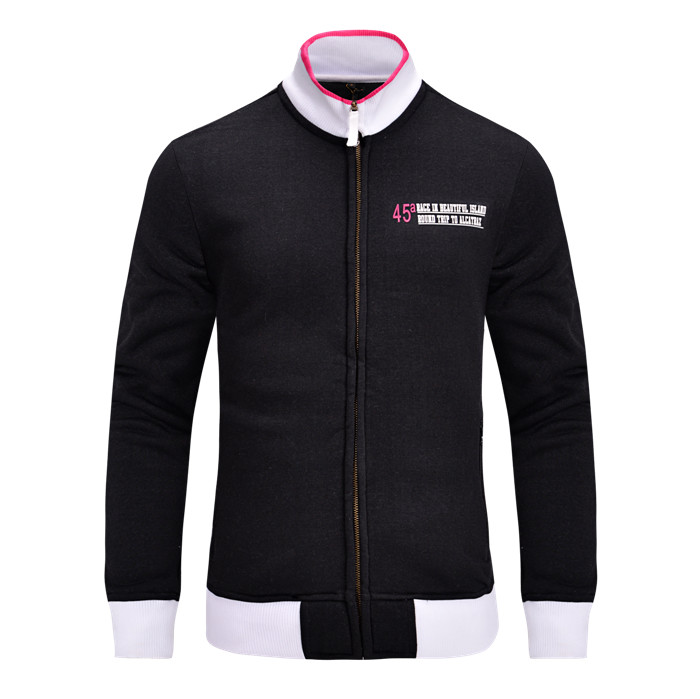 Autumn Winter Casual Sportswear Comfortable Mens Hoodies And Sweatshirts Hoodies Long Sleeve Stand Collar Clothing Bomber Jacket