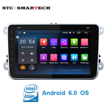 SMARTECH 2 din 8 inch Car Multimedia Android 6.0 OS 3G WiFi Bluetooth GPS Navi Steering wheel control Mirror Link for VW GOLF