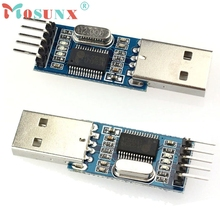 Beautiful Gift New 3 pcs Or 9 pcs USB To RS232 TTL PL2303HX Converter Module Adapter STC Wholesale price Apr8(China)