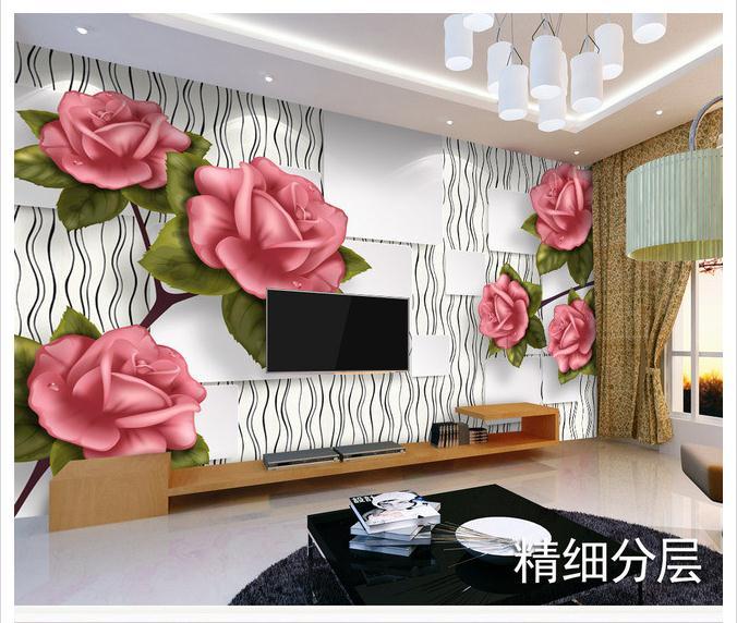 Customized 3d wallpaper 3d wall murals wallpaper peony flower 3D TV background wall mural wallpaper living rome photo wallpaper<br><br>Aliexpress