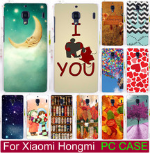 Painted Case For Xiaomi Hongmi Red Rice Redmi 1 1S Print Love You Beer Moon Cute Littel Girl Balloon Phone case Covers Shell