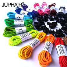 JUP 50 Pairs Round Fashion No Tie Shoelaces Locking Shoes Laces Elastic Shoelaces for Shoestring Jogging Triathlon Sports Fitnes(China)
