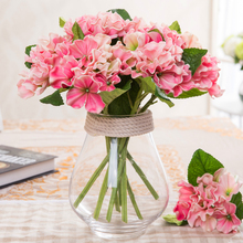 Artificial Hydrangea Flower Real Touch small PU Hydrangea artificial succulent artificial flowers for home furnishing decoration