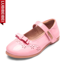 LUBIBEIBEI Spring Autumn New Children's Shoes Fashion Bow Tie Girls Shoes Patent Leather Baby Shoes Sapato Infantil Menina KS100(China)