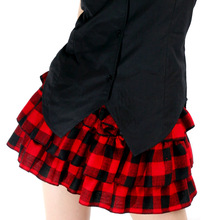 Cute Tiered Skirt Japanese School Style Scotland Plaid Mini Skirt for Girl by Dolly Delly(China)