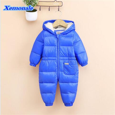 XEMONALE 2017 Winter Infant/Newborn Rompers Baby Boys Girls White Duck Down Rompers Outdoor Warm Children Windproof Jumpsuits<br>