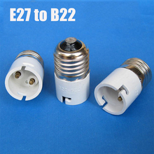 2 Pieces E27 to B22 Lamp Holder Converters Lamp Socket Adapter Bulb Base Plug Lamp Holder