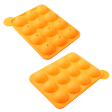 Good Sale Eco-Friendly Silicone cake pop mold cupcake lollipop mold sticks baking tray stick tool(China)