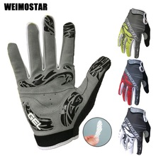 Weimostar Brand White Cycling Gloves Shockproof Gel padded Bike Glove Men Bicycle Full Finger Gloves Women MTB  Racing Gloves