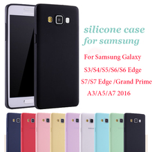 Pink Black Solid Candy Color TPU Silicone Rubber Case For Samsung Galaxy S6 S7 Edge S5 S4 S3 A5 A7 2017 2016 Grand Prime Cover
