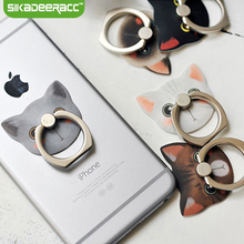 SA64 360 Degree Fashion Cat Finger Ring Holder For iPhone 4 5 5s 6 6s Plus SE Smartphone Tablet Universal Mount Stand Dock