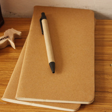 1pcs cowhide paper notebook blank notepad book vintage soft copybook daily memos Kraft cover journal Calendar 01623
