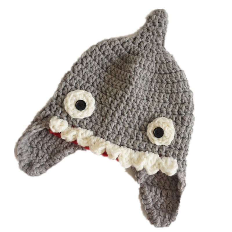 """""""Baby Shark"""" Shark Wool Hat for Children 7"""